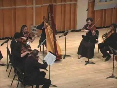 Harpist Adan Vasquez at the Merkin Concert Hall NYC