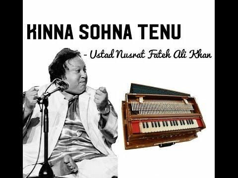 Kina Sona Tenu Rabb - Ustad Nusrat Fateh Ali Khan (Learn on Harmonium)
