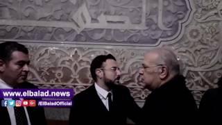 نجوم الفن فى عزاء السيناريست الكبير محمود أبو زيد ..فيديو