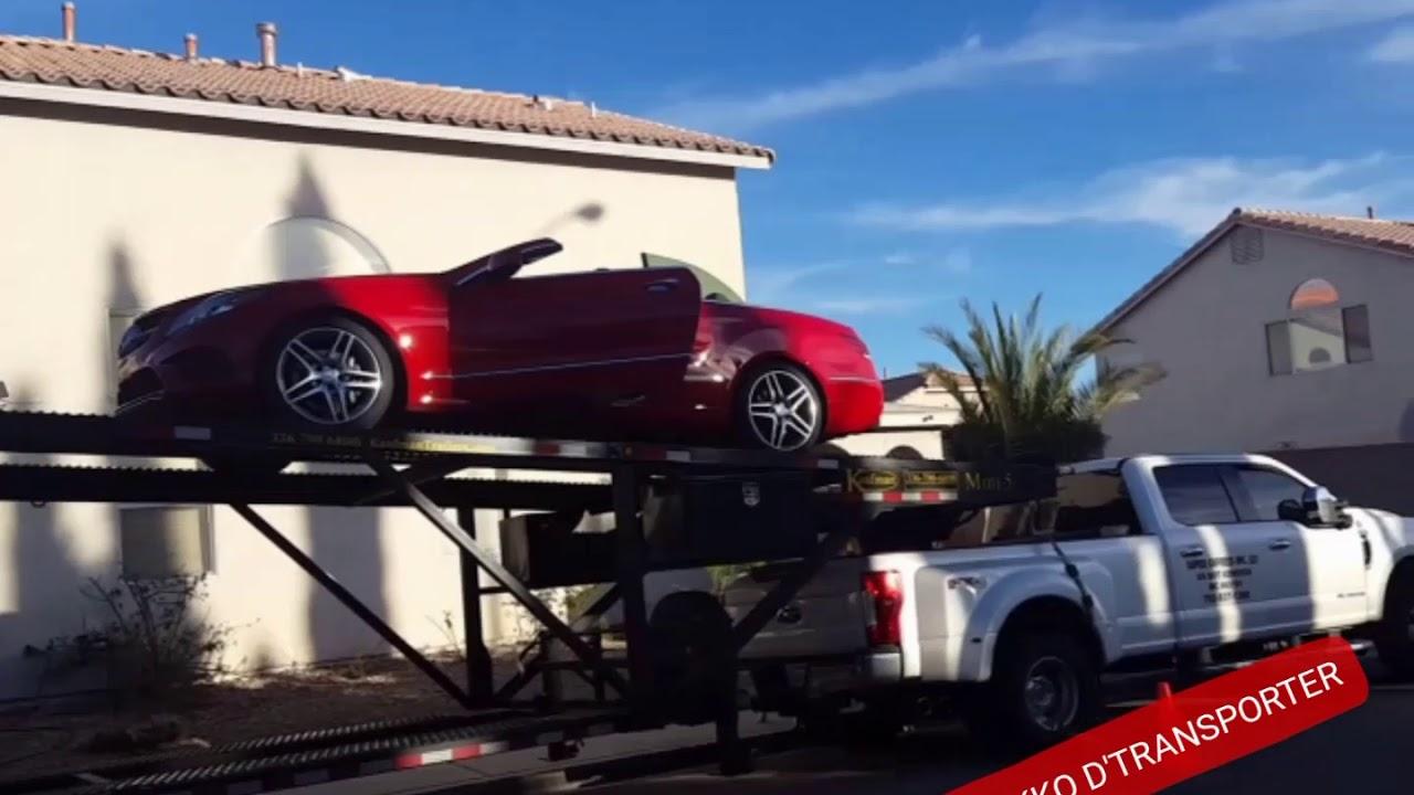 Loading A 2014 E 350 On A Double Deck Mini 5 Kaufman Trailer Youtube