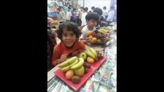 يوم الفاكهة لصف أول ابتدائي بمدارس الرواد الأهلية ببريدة 1435 هـ