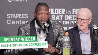 Deontay Wilder reacts to Tyson Fury Fight | Post-Fight Press Conference