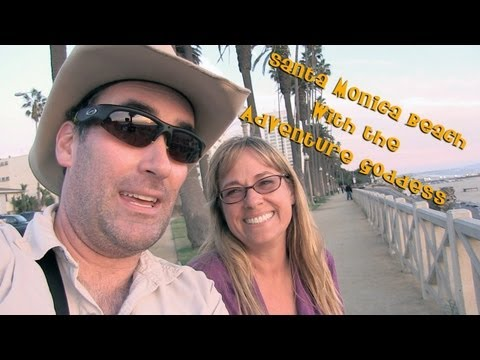 Santa Monica Beach with the Adventure Goddess