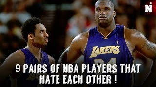 9 Pairs Of NBA Players That HATE Each Other!