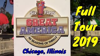 Six Flags Great America Full Tour - Chicago, Illinois