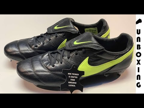 e91edd279 Nike Premier II SG-PRO Anti-Clog - Black/Volt - YouTube