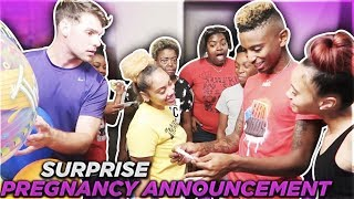 SURPRISE PREGNANCY ANNOUNCEMENT ON BOYFRIEND!!