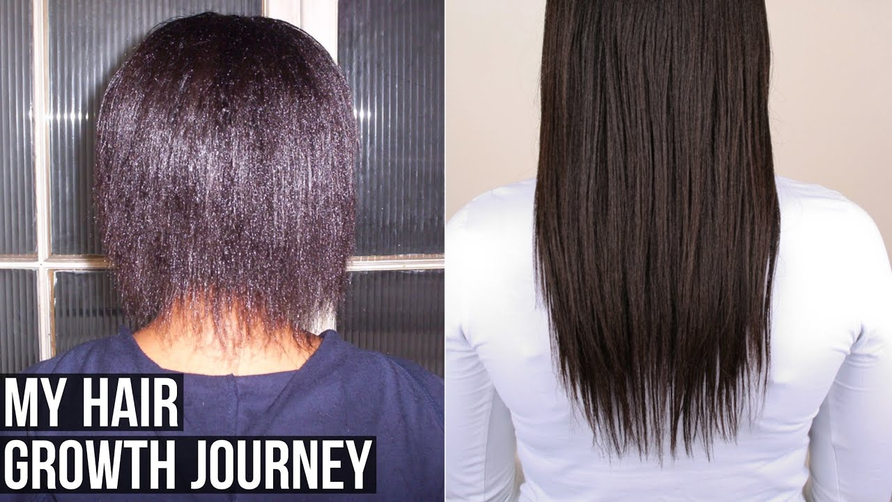 My Hair Growth Journey Relaxed Hair Youtube