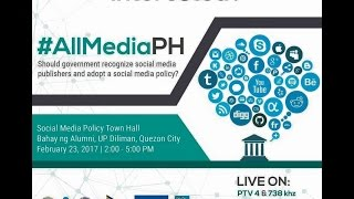 Social Media Policy Town Hall 2/23/2017
