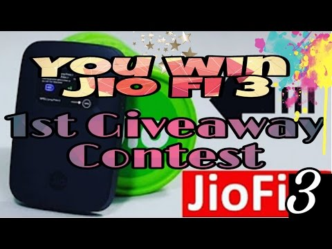 1000 Subscriber 1st GIVEAWAY CONTEST !!!RELIANCE JIO 4G ROUTER - JIOFI3?? | (Finished 12 Mar 2017)