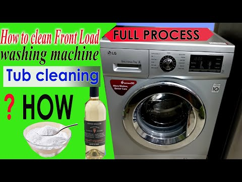 How to clean front load washing machine TUB CLEANING without TUBCLEANER how?