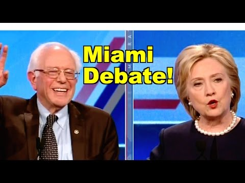 Bernie Sanders v Hillary Clinton debate in Miami! LV CNN/Univision Democratic Debate Clip Roundup