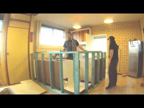 How to build a Bar, Man Cave bar design, Time-laps, Frame work, Part 1