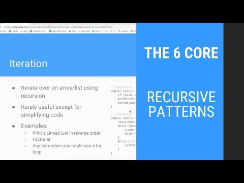 The 6 Core Recursive Patterns for Interviewing