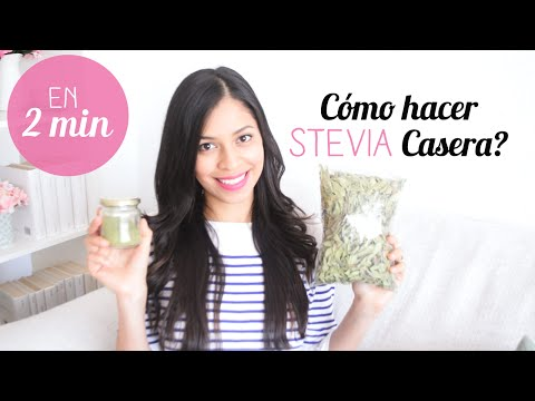 Cómo hacer STEVIA casera en 2 min ı Cómo utilizarla + Beneficios