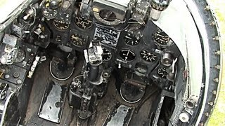 Hawker Hunter jet fighter cockpit