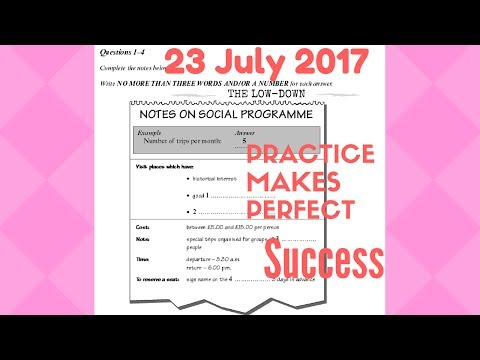 IELTS Listening Practice Test 2017 With Answers | 23 July 2017
