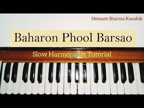 Baharon Phool Barsao Harmonium Tutorial | Notes Sargam |
