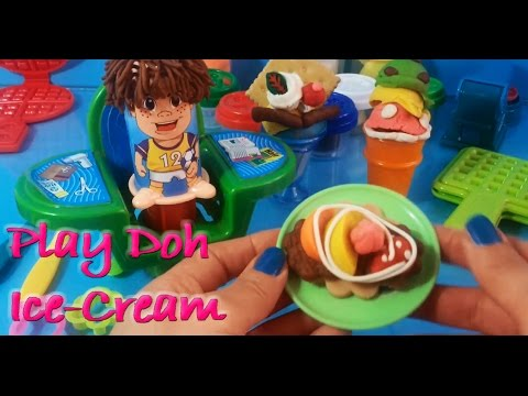 PLAY DOH ICE-CREAM BISCUITS FRUITS HAIR STYLING