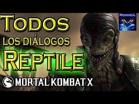 Todos los diálogos de Reptile en Mortal Kombat X: Scyzoth, el último Zaterran (Español Latino)