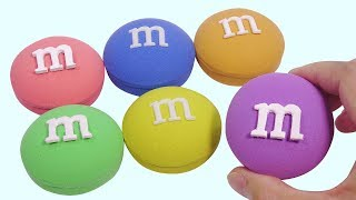 Diy How To Make Kinetic Sand Rainbow M&M Candy Chocolate For Kids Learning With Nursery Rhymes Song