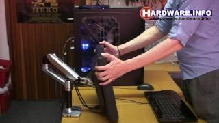 Hardware.Info - Ergotron LX Desk Mount LCD Arm demonstration