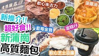[Poor travel香港] 新推介!超好食!新蒲崗高質素麵包店!爆Cream朱古力包、軟心芝士忌廉包、菠蘿油、3味蛋糕仔、藍莓金寶包!理想餅店
