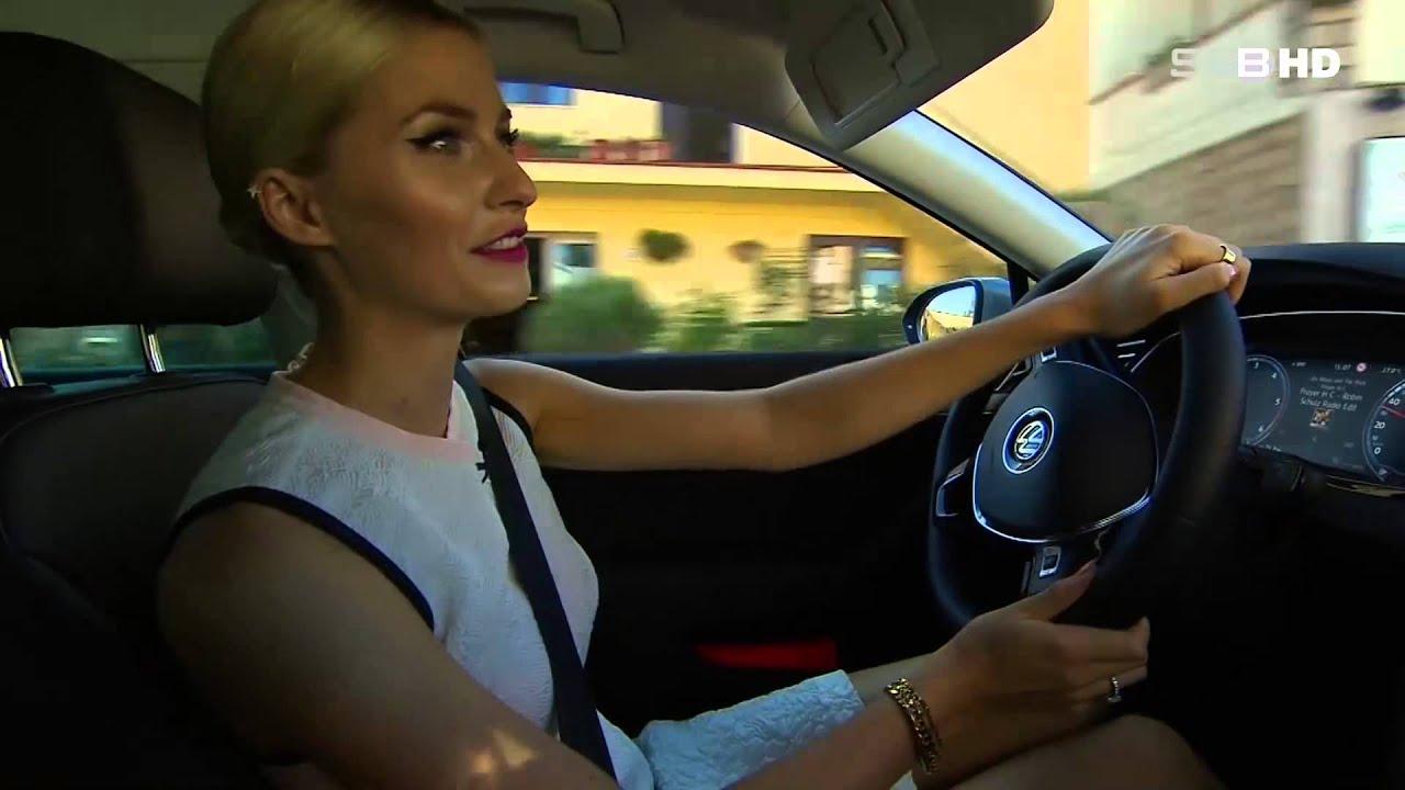 photo of Lena Gercke Volkswagen Passat - car