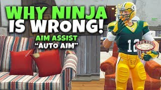 Why Ninja is Wrong About Aim Assist | Fortnite Controller VS PC
