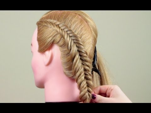 Косичка обратный рыбий хвост. Reverce Fish Tail Braid