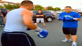 The best neighborhood boxing match you