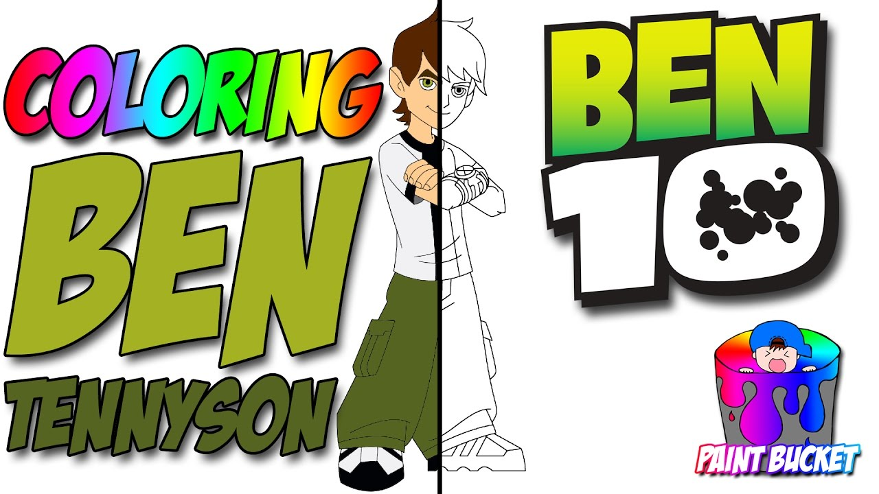 ben 10 coloring pages cartoon network coloring book for kids to learn colors