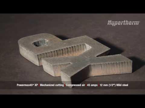 Powermax45 XP mechanized cutting 12mm mild steel