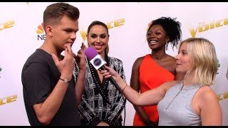 Baixar Britton Buchanan, Christiana Danielle, Jackie Foster | Team Alicia Keys | The Voice Red Carpet Sean