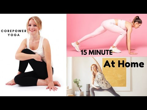 15 minute corepower yoga flow you can do at home...