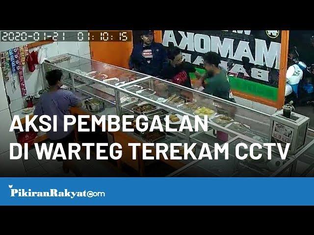 Aksi Pembegalan di Warteg Terekam CCTV