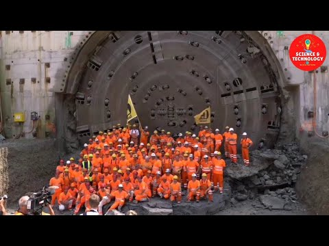 INCREDIBLE SWITZERLAND BIGGEST TUNNEL BORING MACHINE DIAMETER-HOW DOES TUNNEL BORING MACHINE WORK?