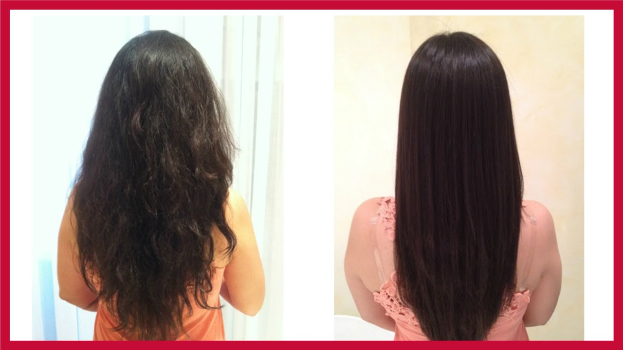 Straight perm winnipeg - Permanent Hair Straightening At Home With All Natural Ingredients Homemade Hair Straightening Gel Youtube