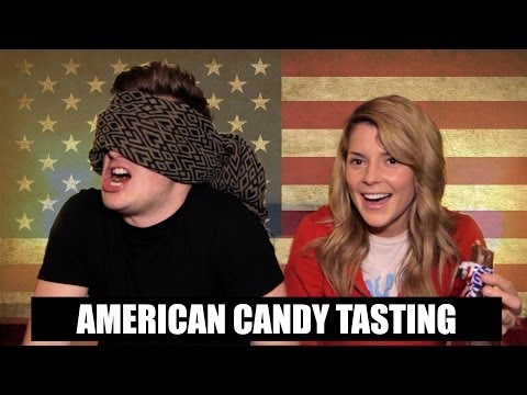 AMERICAN CANDY TASTING Ft Grace Helbig