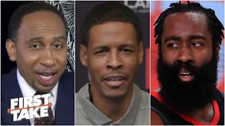 Stephen A. asks Stephen Silas about James Harden trade rumors | First Take