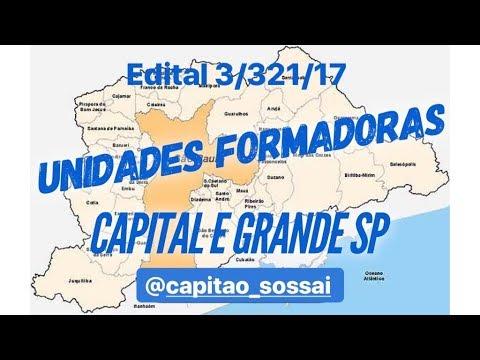 UNIDADES FORMADORAS Capital e Região Metropolitana (Edital-3/321/17)   Capitão Sossai