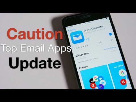 Top Email App Update - Caution, People May Read Your Mail