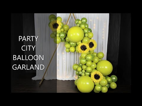 Double Stuffed Balloon Garland DIY | How To | Tutorial | Party City Balloons Review