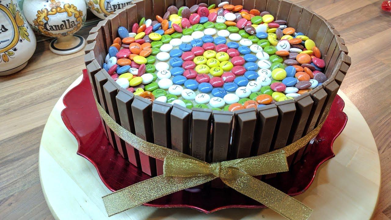 Tarta Kitkat Y Lacasitos Para Cumpleanos Muy Facil Con Relleno A 3 - Tartas-de-cumpleaos-sencillas-y-originales