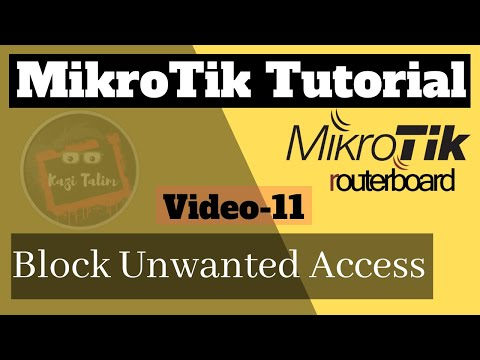 how to control unwanted access in mikrotik router