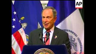 New York City Mayor Michael Bloomberg answered questions Thursday about the cause of the plane crash