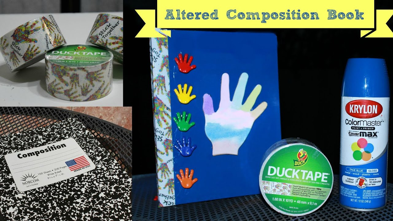 stick together duct tape krylon spray paint back to school youtube. Black Bedroom Furniture Sets. Home Design Ideas