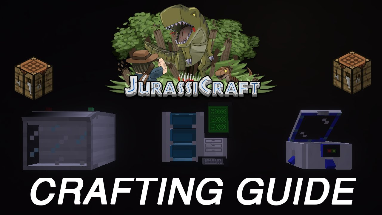 JurassiCraft 2 0 Crafting Guide: How to craft Cleaning Station, Fossil  Grinder, DNA Sequencer