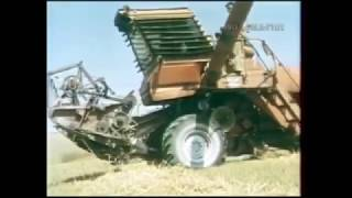 1988 год.  Уборка пшеницы в Казахской ССР.