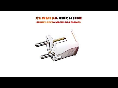 Video de Clavija enchufe schuko recto macho 16 A  Blanco